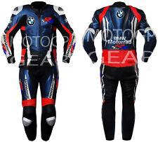 BMW Nouveau Hommes Moto Combinaison Cuir Veste Pantalon Racer Armour Protection