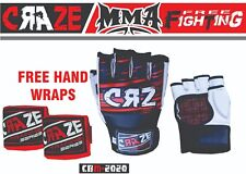 Sparring Grappling Boxing Gloves MMA Fight Punch Ultimate PU Leather Hand Wraps