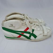 ONITSUKA TIGER Sappora 72 Trainers Mid Top  - White Green Red - UK 11 - Men's