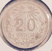 1941 MEXICO 20 CENTAVOS COIN FROM A FRESH OLD ESTATE HOARD  (YOU BE THE JUDGE !)