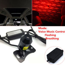 Red LED Star Light Car Interior USB Ceiling Lamp Voice Music Control w/ Remote