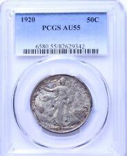 1920 Walking Liberty Half Dollar : PCGS AU55