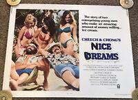 Original 1981 Cheech & Chong's Nice Dreams 1/2 Sheet Movie Poster, 22x28, Rolled