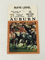 Vintage 1993 Auburn Vs Florida Ticket College Football Suite Level Ships Fast!