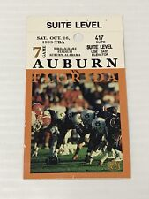 Vintage 1993 Auburn Vs Florida Ticket College Football Suite Level Ships Fast!