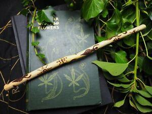 Avalon Elder Wood Star Goddess Wand  - Pagan, Witchcraft, Ogham Tree, Wicca