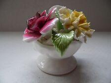 Royal Stratford China Handcrafted Staffordshire England Flower Basket Figurine