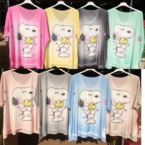 made in Italy: Trend Shirt Comic Snoopy Glitzer-Nieten viele Farben EG 42 - 48