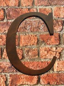 Industrial Rusty Aged Metal 12 Inch (30.5 cm.) Alphabet Letter - C