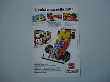 advertising Pubblicità 1978 LEGO