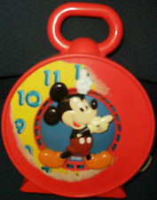 Vintage Disney Mickey Mouse Pull String Talker Clock, Mattel 1981