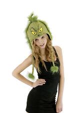 Dr Seuss Grinch Costume Hoodie Hat Adult Teen Beanie Licensed Elope New