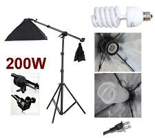 Photo Studio Video Boom Arm Stand Softbox light Kit