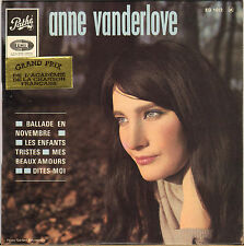 "ANNE VANDERLOVE ""BALLADE EN NOVEMBRE"" 60'S EP  PATHE 1012"