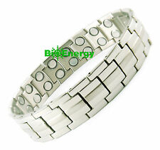 Magnet Magnetic TITANIUM Steel Energy Power Bracelet Health Bio Men's