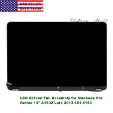 """For Macbook Pro Retina 13"""" A1502 Late 2013 EMC2678 661-8153 LCD Screen Assembly"""