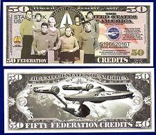 2 Star Trek 50th Anniversary   Dollar Bills --NOVELTY-FAKE-MONEY Space U
