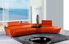 Free Shipping K8029 Modern Orange Leather Sectional Sofa Living Room Furniture