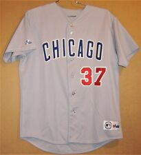 CHICAGO CUBS #37 GRAY Size XL BUTTON-DOWN MLB Majestic JERSEY