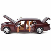 1:24Mercedes Maybach S600 Diecast Model Car Toy Limousine in Box Gift hot red