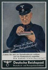 or. Reklame Agfacolor Farbfoto Postbote Uniform Brief Zustellung Reichspost 1942