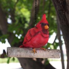 New ListingFann Cardinal Bird Hanging On A Tree Statue Garden Peeker Figurine Yard Art Outd