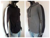 felpa uomo invernale con cappuccio tasche grigio nero maglia casual S M L XL XXL