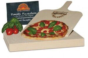 3er Set: 4cm Pizzastein Brotbackstein +Schaufel +Anleitung & Rezepte (2.Wahl)