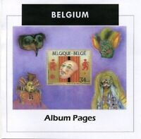 Belgium Stamp Album 1849-2016 Color Illustrated Album Pages