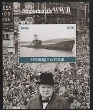 Chad 6722 - 2016 SUBMARINES & CHURCHILL #2 perf s/sheet  unmounted mint