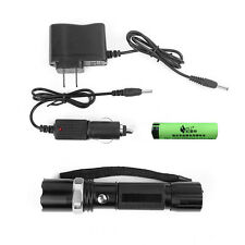 Rechargeable Waterproof  IPX6 Flashlight Police CREE XML 3-Modes Torch Light Kit