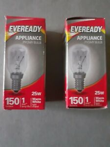 2 x 25w Lava lamp Replacement Bulbs SES Small Edison Screw Eveready