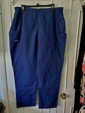 Cherokee Womens Navy Blue Size Xl Elastic Waist Scrub Uniform Pants