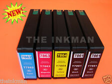 786XL T786XL E786XL INK NEW NON-OEM FOR EPSON WF-4630 SMART CHIP FOR RECOGNITION