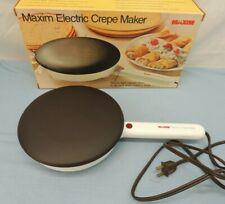 VINTAGE MAXIM ELECTRIC CREPE MAKER w/ ORIGINAL BOX