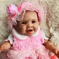 "20"" Full Body Waterproof Silicone Vinyl Reborn Baby Doll Anatomically Correct"