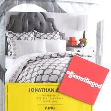 Jonathan Adler New Hollywood Sleek Gray White King Shams Pillow Sham set of 2