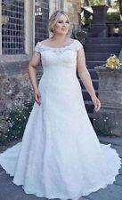 New 2017 Lace White/Ivory Bridal Wedding Dress Custom Plus Size 16 18 20 22 24+
