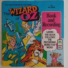 The Wizard Of Oz Peter Pan Record 1981 45 Book Record