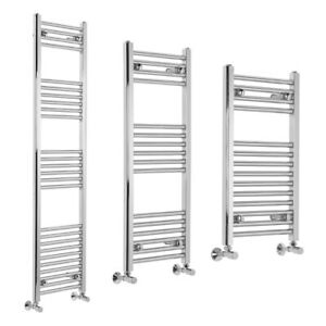 Bathroom Straight Heated Towel Rail Radiator Ladder Warmer Chrome All sizes