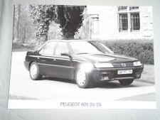 Peugeot 605 SV 24 Press Photo brochure c1991