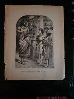 "Antique Book Print - ""Refusing The King's Wine- Daniel, i.""- 1894"