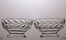 LEAD CRYSTAL CUT GLASS FINGER/DESSERT BOWLS SET OF 2