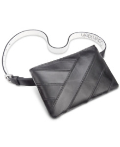 Calvin Klein Women's Synthetic Leather Belt Bag fanny Pack Black Size L/XL NEW!!