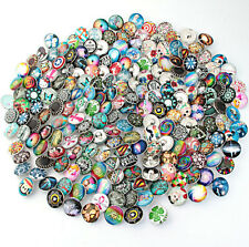 wholesale 100pc/lot18mm Interchangeable glass Buttons Snap Charms Jewelry