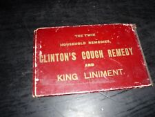 CLINTON'S COUGH REMEDY AND KING LINIMENT ADVERTISING BOOKLET W/12 NIAGARA PICS