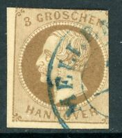 Germany 1861 Hannover 3gr Brown SG # 29 VFU I15