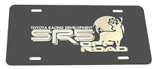 Toyota SR5 Off Road BUCK Car Tag Diamond Etched on Black Aluminum License Plate