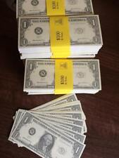 100 x $1 NOVELTY DOLLARS - Fake USA U.S Play Money Fun Pretend Prop * FROM UK