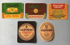 Guinness Stout & Soft Drinks Bottle Labels,Ireland,Co.Cork,rare,vintage,pub.